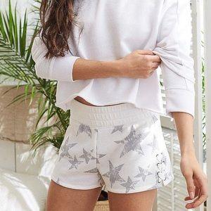 aerie lace-up fleece short
